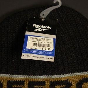 1b68456cb Vintage Reebok Beanie Winter Knit Cap Hat Toboggan NWT
